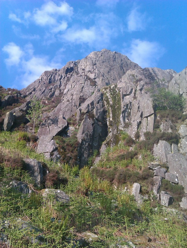 The Crags looking glorious in the early summer sun